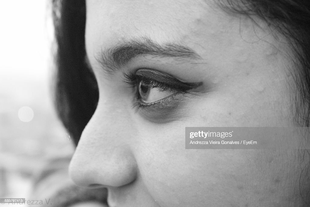 Close-Up View Of Young Womans Eyes : Foto stock