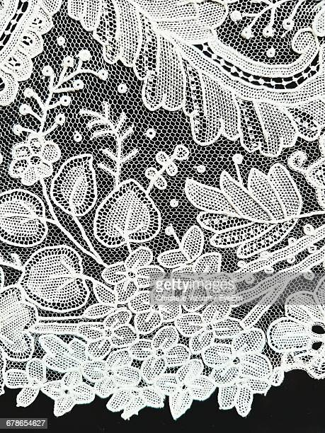 Close-Up White Lacy Fabric