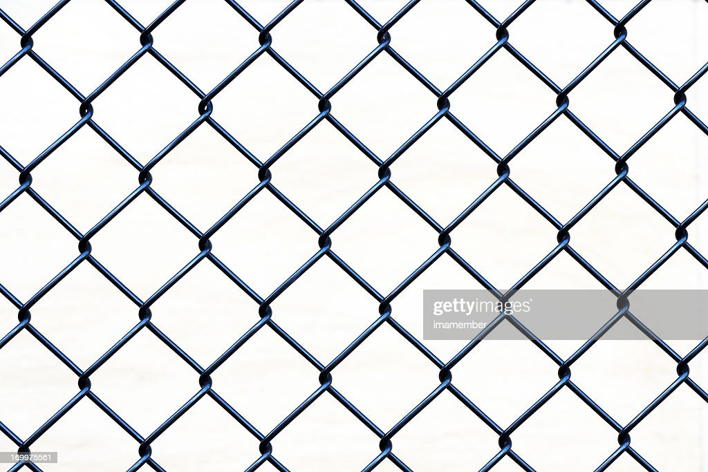 Closeup Wire Fence Aginst White Background Copy Space Stock Photo ...