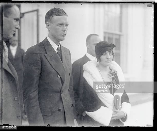 Closeup with Ruth Elder after lunch in the White house with Coolidge.