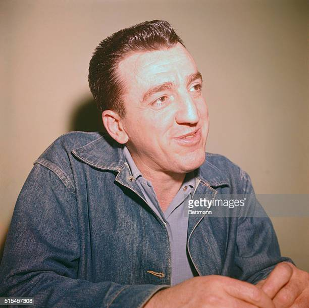 5/1960 Closeups of Caryl Chessman accused slayer at press conference before execution He is wearing a Levi jacket