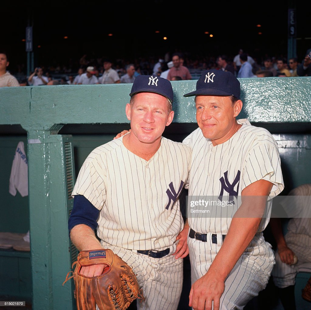 8/1961- Close-ups of Ed 'Whitey' Ford- with Yankee Manager Ralph Houk.