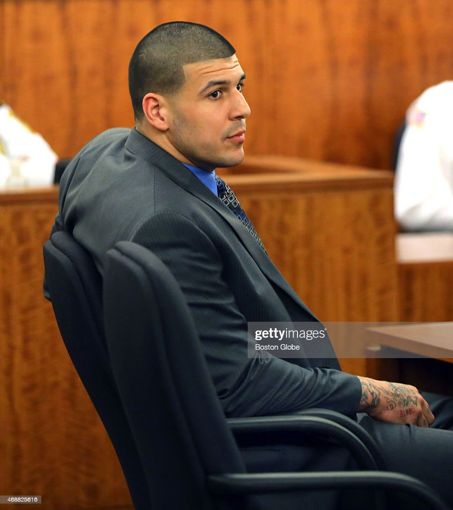 Closing arguments in the Aaron Hernandez trial for the murder of Odin Llyod at Fall River Superior Court. Hernandez looks over the jury as alternates are being picked.