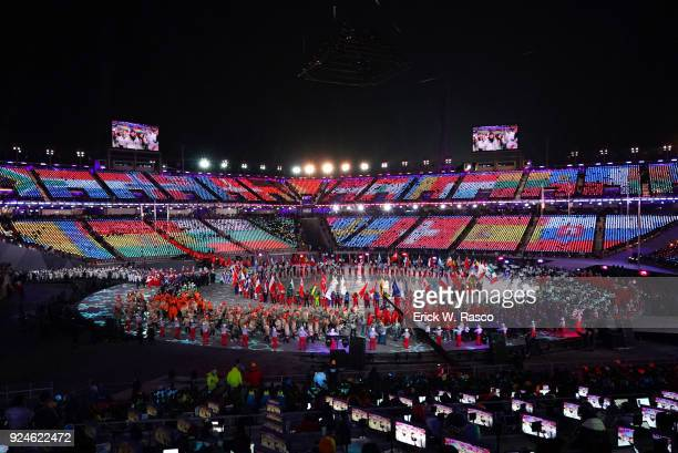 2018 Winter Olympics Scenic view of performers entertaining during ceremonies at PyeongChang Olympic Stadium PyeongChang South Korea 2/25/2018 CREDIT...