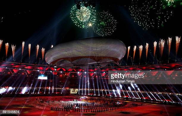 Closing ceremony of CWG Closing ceremony of Commonwealth Games at Jawaharlal Nehru Stadium on October 14 2010
