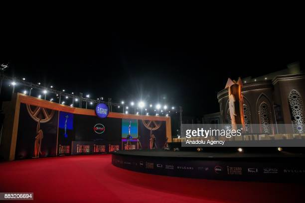 Closing ceremony of the 37th Cairo International Film Festival is held at the Al Manara Conference Center in Cairo Egypt on November 30 2017