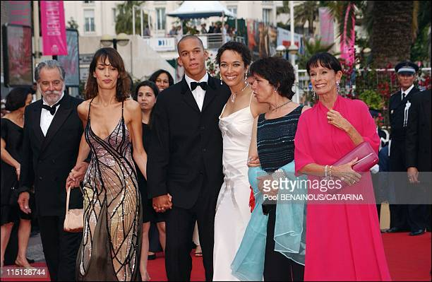 Closing ceremony of the 56th International Cannes Film Festival in Cannes France on May 25 2003 Chaplin family From left George Chaplin Dolores...
