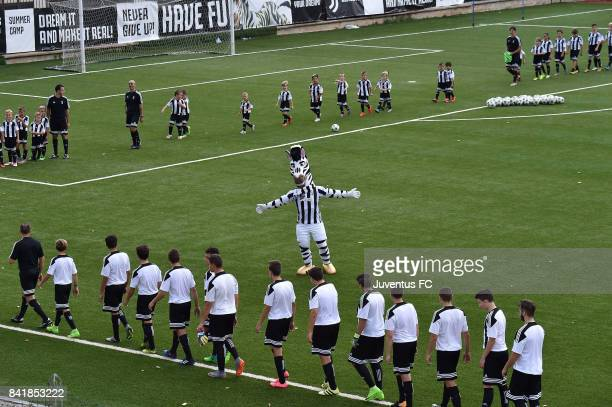 Closing Ceremony of the Juventus Campus Training Session at Cascia on September 2 2017 in Cascia near Spoleto Italy