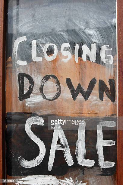 closing down sale - retail recession shop window