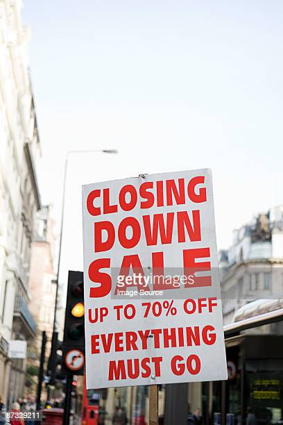 Closing down sale sign