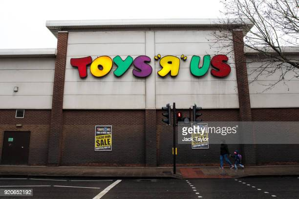 Closing down signs sit outside Toys R Us on New Kent Road on February 19 2018 in London England The toy retailer which employs 3000 people faces...
