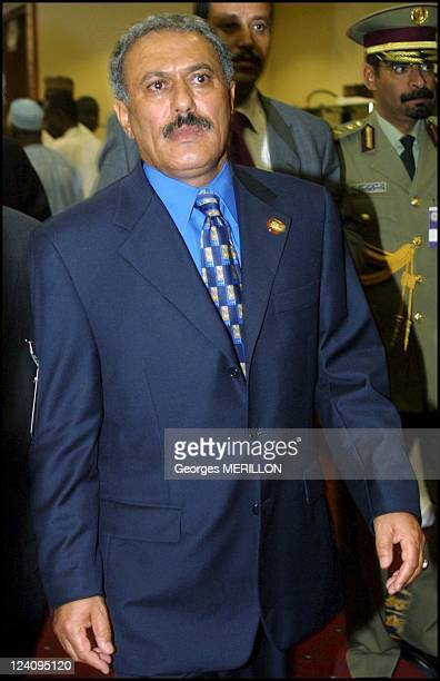 Closing of the 9th Islamic conference summit In Doha Qatar On November 13 2000 Ali Abdullah Saleh President of Yemen