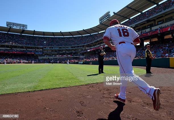 Closing pitcher Huston Street of the Los Angeles Angels of Anaheim takes the field during the ninth inning of the game against the Houston Astros at...