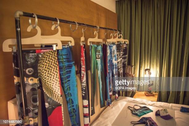 A cloth collection seen at an event at the Hilton hotel showcasing the work of over 30 fashion designers from all over the world The even