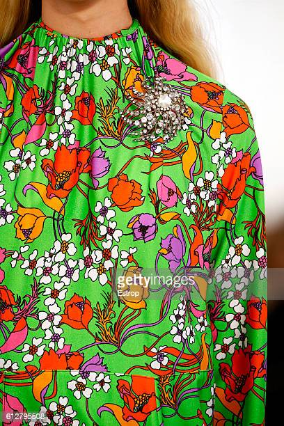 Cloth detail at the Balenciaga show as part of the Paris Fashion Week Womenswear Spring/Summer 2017 on October 2 2016 in Paris France