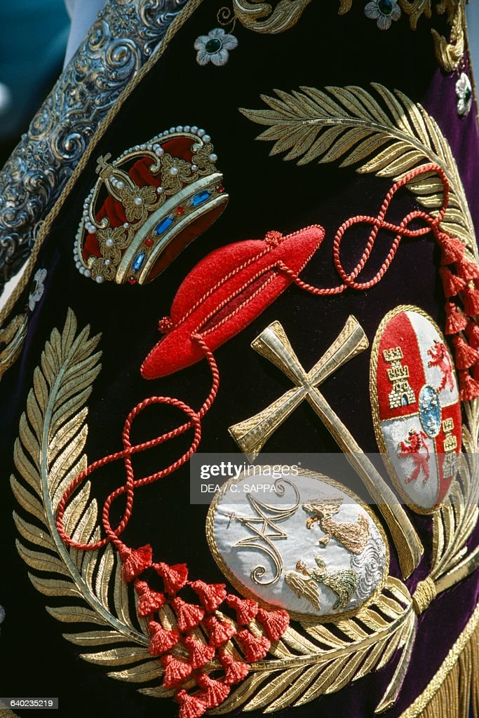 Cloth Embroidered With Cross Palm Leaves Crown Pictures Getty Images