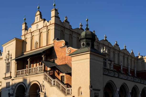 Cloth Hall in Old Town of Krakow at late afternoon, Poland