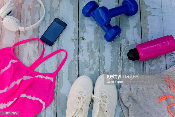 clothes and accesories  for woman working out