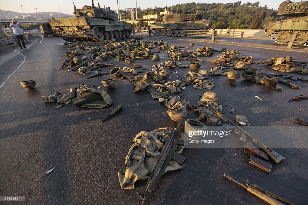 At Least 90 Killed in Attempted Military Coup in Turkey : News Photo