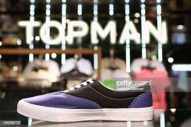 Clothes are displayed at Topman ready for sale on October 3 2012 in Sydney Australia Topshop and Topman open in Sydney after a successful launch of...
