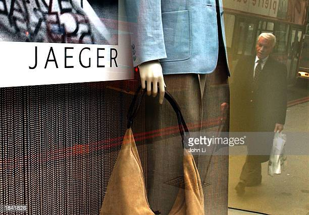 Clothes are on display at a Jaeger store in Knightsbridge is shown March 11 2003 in London Entrepreneur Harold Tillman bought the Jaeger group's 52...