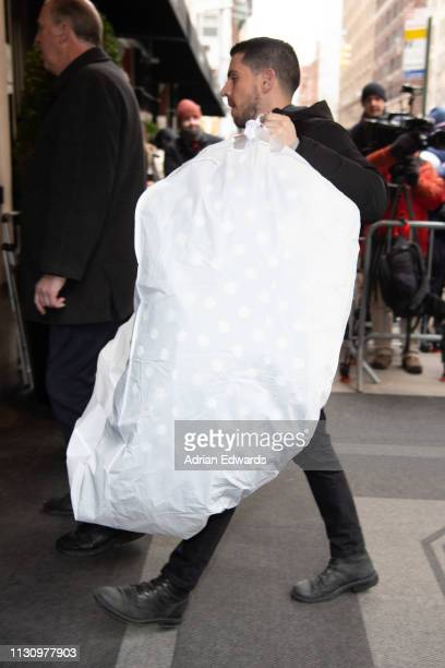 Clothes arrive at Meghan Markle's baby shower on February 20 2019 in New York City