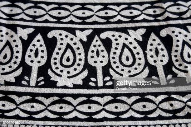 Clothes Block Printing on Cotton Fabric, kutch, Gujarat, India, Asia , May