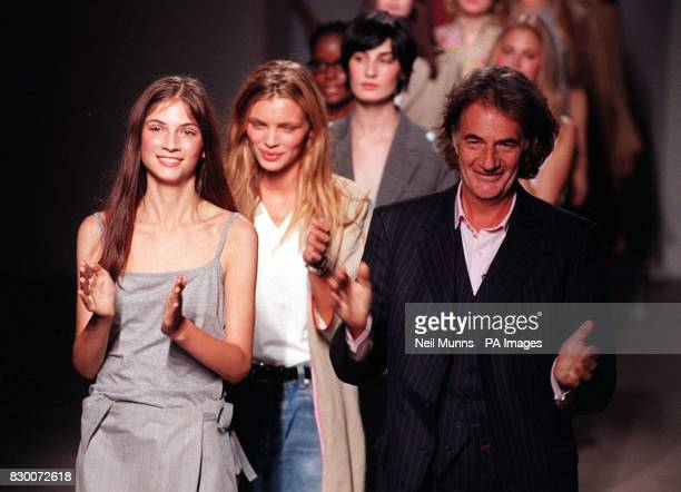 Clothes Designer Paul Smith takes to the catwalk with the models at the end of his summer collection show during London Fashion Week. * 15/9/01: Paul...
