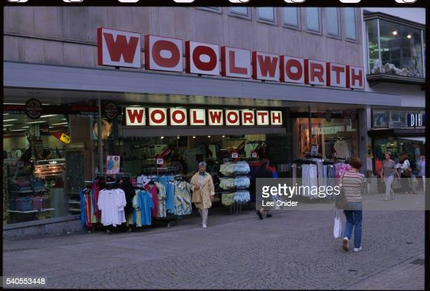 Clothes Displayed outside Woolworth Department Store