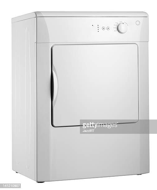 Clothes dryer (isolated with clipping path over white background)