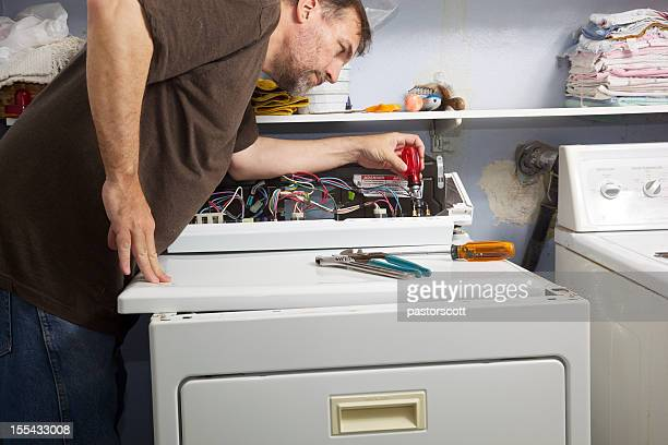 Clothes Dryer Repair in Laundry Room