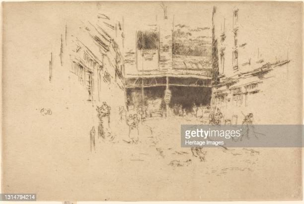 Clothes Exchange, No.I, 1887. Artist James Abbott McNeill Whistler.