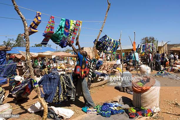 Clothes for sale at Borana tribe village market.