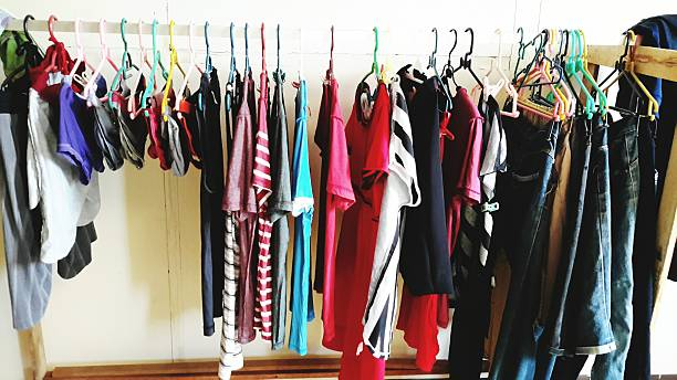 Clothes Hanging On Coathanger