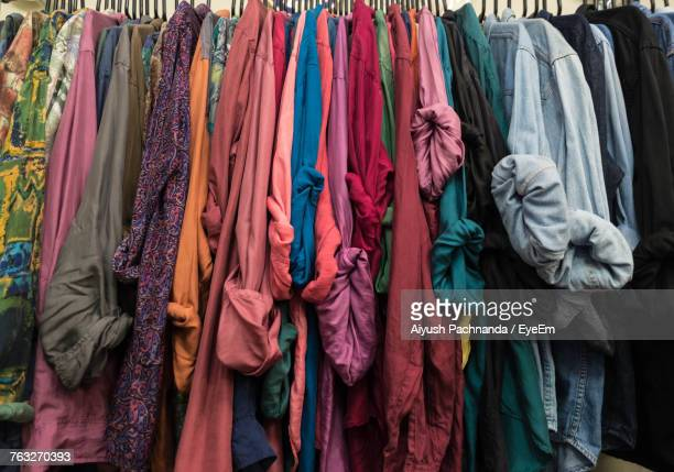 Clothes Hanging On Display For Sale
