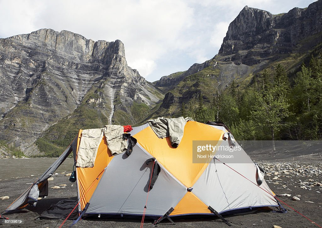 clothes hanging on tent in valley & 60 Top Hanging Tent Pictures Photos u0026 Images |