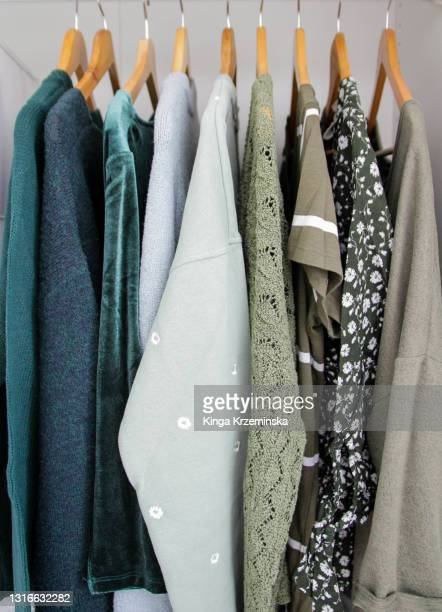 clothes hanging - fashion collection stock pictures, royalty-free photos & images
