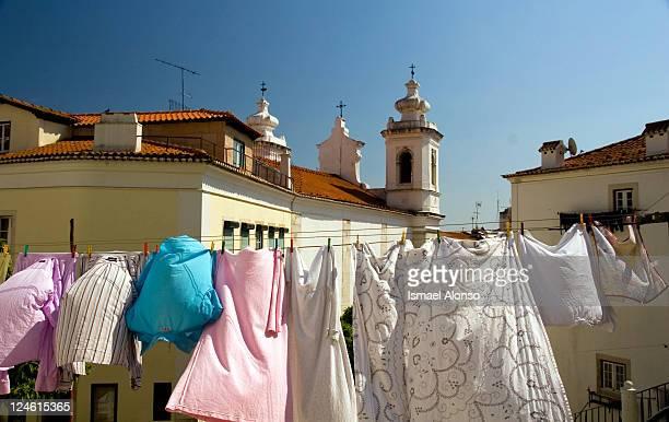 Clothes line in Alfama