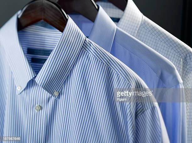 clothes on a hanger - overhemd stockfoto's en -beelden