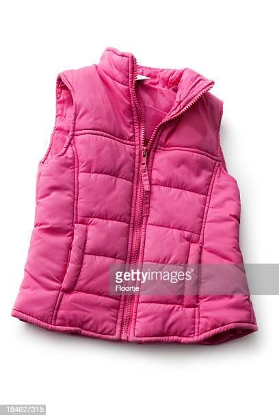 kleidung: rosa sport weste - ärmellos stock-fotos und bilder