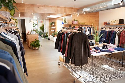Clothes shop interior 901863672