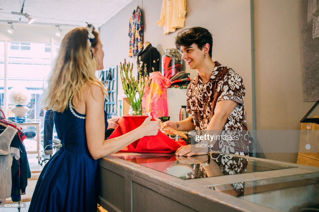 Clothes Shopping in Amsterdam : Stock Photo