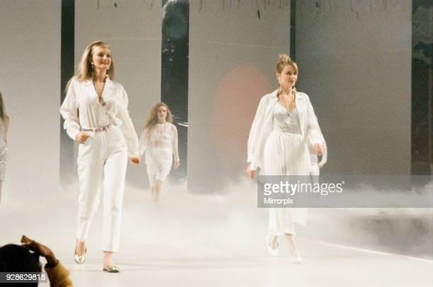 Clothes Show Live, models on the catwalk, Birmingham NEC, 6th December 1990.