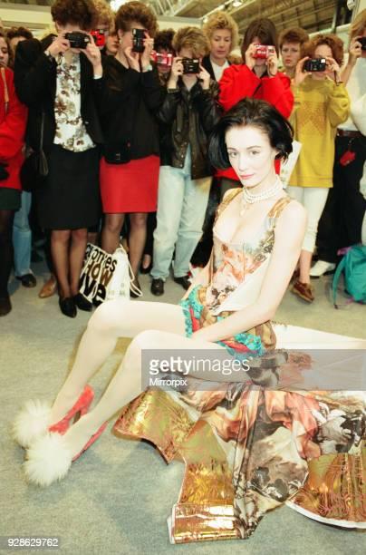 Clothes Show Live, NEC, Birmingham, 6th December 1990. Tizer Bailey wearing Corset designed by Vivienne Westwood.