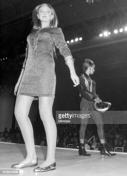 Clothes Show Live, one of the models during the show at the Birmingham NEC today, 6th December 1990.