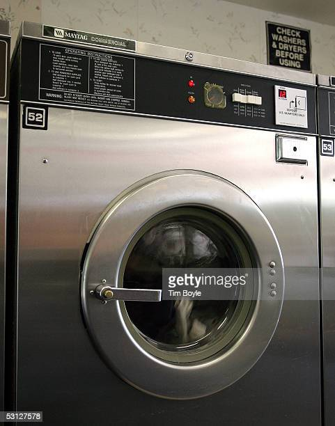 Clothes tumble in a commercial Maytag dryer in a laundromat June 22 2005 in Glenview Illinois Chinese appliance maker Haier has shown interest in the...