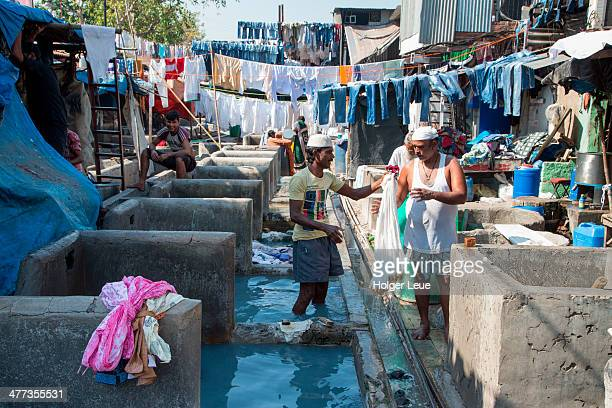 Clothes washers at Mahalaxmi Dhobi Ghat