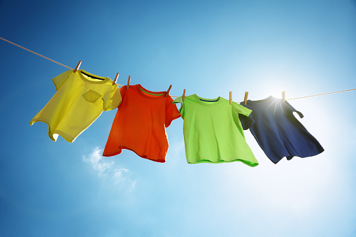 Clothesline and laundry 471973362
