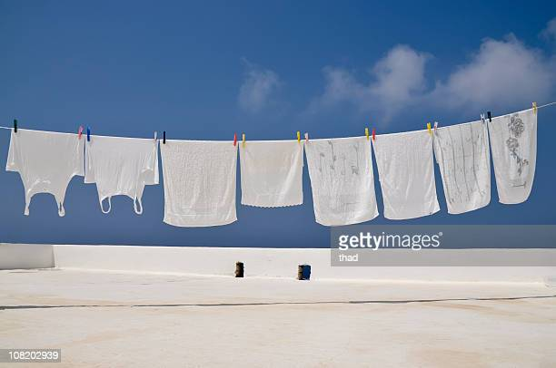 Clothesline of Bright Whites