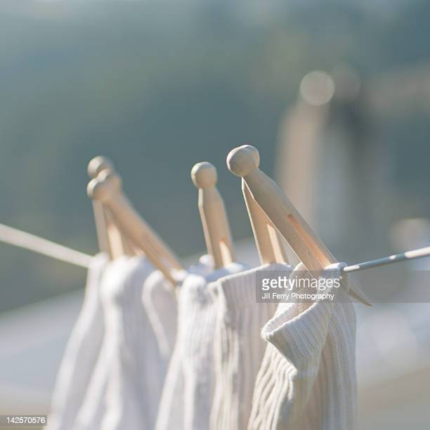 clothesline - clothespin stock pictures, royalty-free photos & images